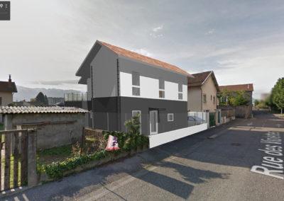 Maison G projet depuis Rue